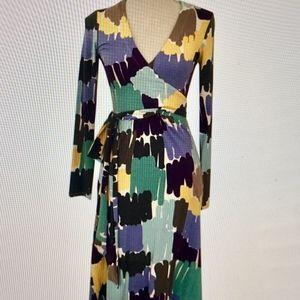 Multicolored Boden wrap Dress